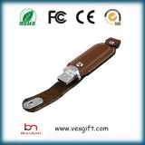 Cuero USB flash Memory Stick con Relieve Logo