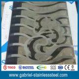 Pantalla decorativa de la partición del tabique del acero inoxidable del restaurante caliente de la venta