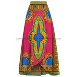 Женщин печати высокого качества юбки Dashiki воска хлопка способа одежда африканских
