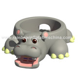 Hinchable Hippo Cartoon Bouncy City, Inflable Animal Saltando Castillo