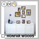 カスタムサイズのブラウンホーム装飾のための木映像の写真フレーム