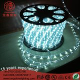 Luz de dos hilos redonda de interior y al aire libre de la cuerda de la alta calidad LED para la iluminación de la decoración