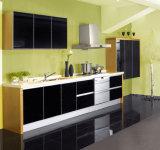 Modulares Muebles de Cocina alto brillo UV de puerta Diseño Grifos de cocina con grifo de la cocina Muebles modernos Moda de Madera Gabinetes de cocina