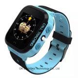 El teléfono del reloj del precio SIM de la promoción de la alta calidad embroma el reloj elegante del GPS de los cabritos del reloj