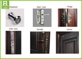 Diseño de acero moderno de la puerta de la seguridad de la puerta principal del hierro de la seguridad
