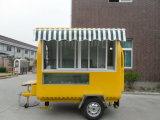 Carro de la venta de los alimentos de preparación rápida de la talla estándar y barra de bocado de Van de los alimentos de preparación rápida del carro del alimento