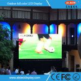 P4 al aire libre que hace publicidad de la visualización para la alameda de compras