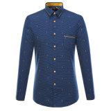 Chemises de robe chaudes de coton de chemises de vente de ressort d'hommes d'OEM d'usine