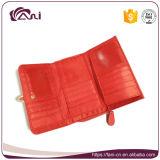 Monedero barato al por mayor del color del caramelo, carpeta del clip de la correa de la PU de la alta calidad para las señoras jovenes