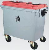 [4وهيلرس] [660لت] بلاستيكيّة نفاية وعاء صندوق