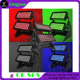 Outdoor 72X10W DMX LED Stage Wall Wash Cidade Cor Light