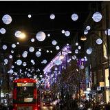 خارجيّ [لد] شارع زخرفة عيد ميلاد المسيح كرة عطلة أضواء