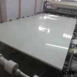 大きい平板の水晶石の白い輝きの水晶