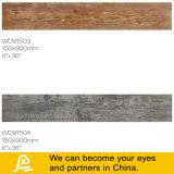Telha rústica tocante de madeira da porcelana de Inkject para o assoalho e a parede Wd91506 150X900mm