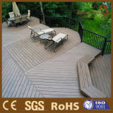 Color natural del grano Composite Decking de madera