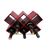 PU Wood Creative Wine Rack 8 Bottles EUR Furnishing Display Shelf