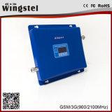 GSM/WCDMA 900/2100MHz 2g 3G 4G mobiler Signal-Verstärker mit Protokoll-Periodischer Antenne