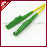 Modo óptico OS2 E2000 APC de fibra solo al cable de la corrección del conector de E2000 APC
