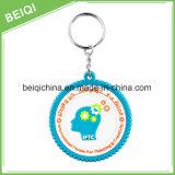 Melhor Fábrica Custom Personalized Plastic Fancy 3D Esquilo PVC Keychain