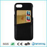 Leder-rückseitiger Kasten-Deckel mit Einbauschlitzen für iPhone 7/7 Plus