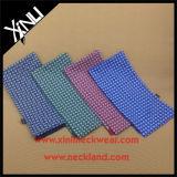 Écharpes en soie estampées par coutume de tube pour la vente en gros avec la frange