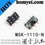 Interrupteur à glissière SMD de type vertical 6 broches pour produits numériques (MSK-1110-G15-N)