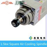 1.5kw de vierkante Lucht koelde de Motor van de As van de Hoge Frequentie voor CNC de Machine van de Gravure van de Houtbewerking