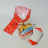 Customzied 40 microns BOPP Transparent Poly Bag avec carte Hard Fund