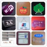 Silkscreen gedrucktes freies Acryltypenschild (BTR-I8021)
