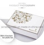 Коробка индикации естественного шикарного прямоугольника Бамбук-Пластмассы просто косметическая