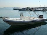 Cer-Fiberglas-aufblasbares Rippen-Boot mit Konsole