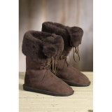 Ботинки женщин овчины Австралии зимы с шнурком
