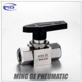 Robinet à tournant sphérique à haute pression avec TNP ou amorçage de G (acier inoxydable MG-B-NPT3/8, MAGNÉSIUM-B-G3/8)