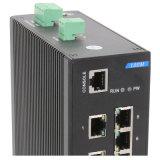 Interruptor industrial da rede Ethernet de 5 RJ45 portuários e de 3 fibras