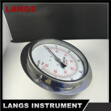 067 fabbrica 150mm tutto il modello del manometro degli ss nuovo con la flangia