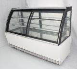 高品質のスーパーマーケットのケーキ冷却装置表示ショーケース