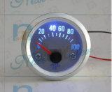 """manometro dell'olio 0-100 di 2 """" 52mm con la manopola bianca"""