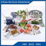 Conteneur de nourriture papier d'aluminium en aluminium/pour la congélation