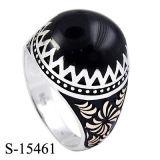 De nieuwe Model 925 Zilveren MoslimRingen van het Email van de Ring van de Mens