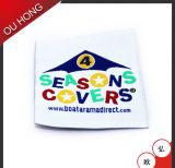 Escritura de la etiqueta tejida lavable de los accesorios de la ropa para la ropa