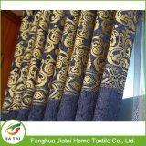 Cortinas azules para la ventana de la cortina del poliester de la sala de estar