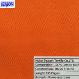 Ткань хлопка 20*20 108*58 230GSM En11611 En11612 функциональная пожаробезопасная Flame-Retardant для защитных одежд