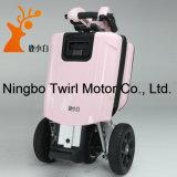 Trois scooter électrique pliable de roue rose de la couleur trois de roue