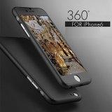 사치품 iPhone를 위한 360 도 전면 커버 케이스 6 6s 이동 전화 상자 Capa Coque 플러스 I6 I6s I7를 위한 강화 유리를 가진 7개 흑자
