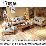 Sofà moderno del tessuto di legno solido dell'Asia Sud-Orientale per mobilia domestica CH-611