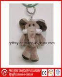 Mini jouet de trousseau de clés de lapin de peluche de cadeau promotionnel mignon