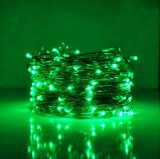 EU Adaptateur Mini String Light 200 LED Ultra Facile Silver Wire Rope Lights for Trees Wedding Party Jar Chambre à coucher