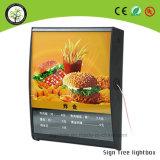 Rectángulo ligero del marco rápido delgado del LED para hacer publicidad de la tarjeta del menú