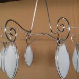 Kroonluchter van de Vorm van de Bloem van het Glas van zes Lichten de Opalen Witte voor Slaapkamer