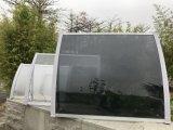 Sombrilla fácil ajustable popular de la ventana de la puerta del policarbonato que ensambla